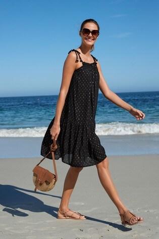 Black Lurex® Short Dress