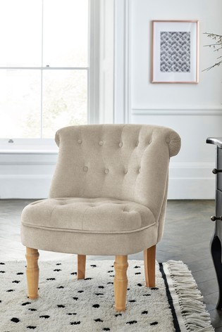 Oxford Accent Chair With Natural Legs