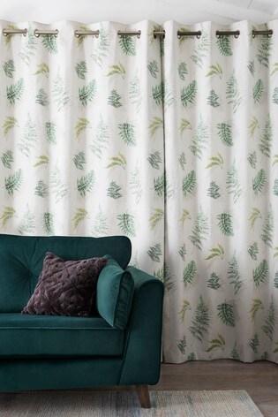Fern Print Eyelet Curtains