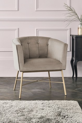 Josie Accent Chair With Gold Legs