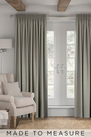 Chunky Weave Grey Made To Measure Curtains