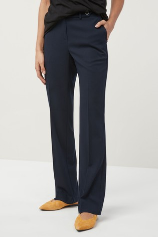 Navy Boot Cut Trousers