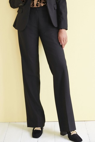 Black Tailored Wide Leg Trousers