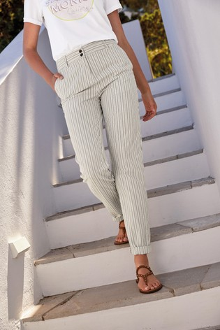Grey Stripe Chino Trousers
