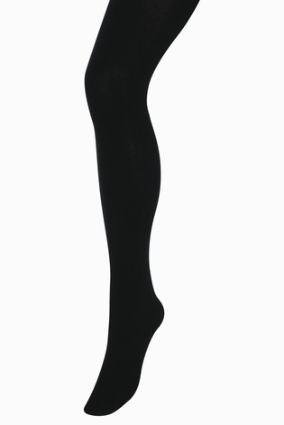 Black Luxe Opaque 80D Tights Two Pack