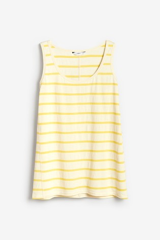 Yellow/White Stripe Weekend Vest