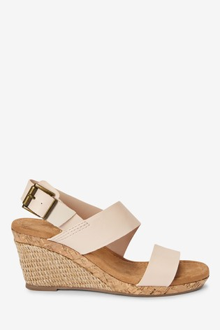 Bone Forever Comfort® Cork Detail Two Band Wedges