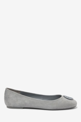 Buy Grey Suede Hardware Leather