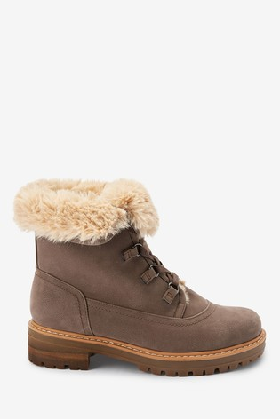Mink Forever Comfort® Faux Fur Lace-Up Boots