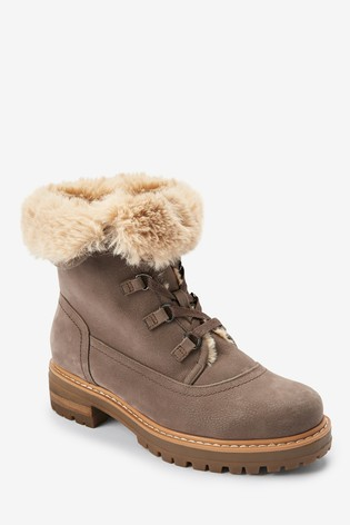 Mink Forever Comfort® Faux Fur Lined Collar Boots