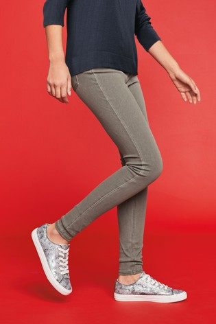 Grey Jersey Denim Leggings