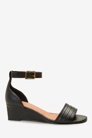 Black Forever Comfort® Low Wedges