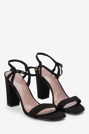 Buy Black Block Heel Delicate Sandals