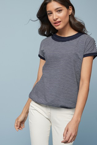 Navy Stripe Bubblehem T-Shirt