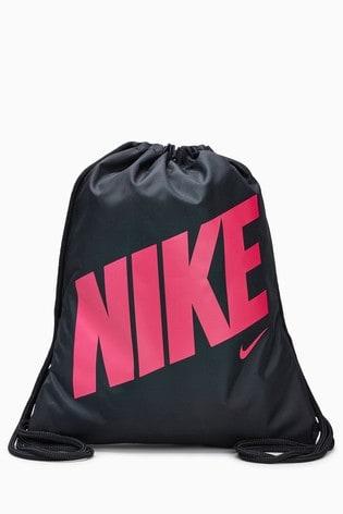 Nike Black/Pink Gym Sack