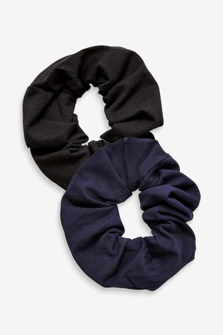 Black/Navy Scrunchies Two Pack