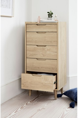 Oslo 5 Drawer Tall Chest