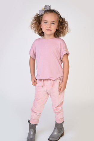 Angel's Face Pink Hannah Velour Joggers