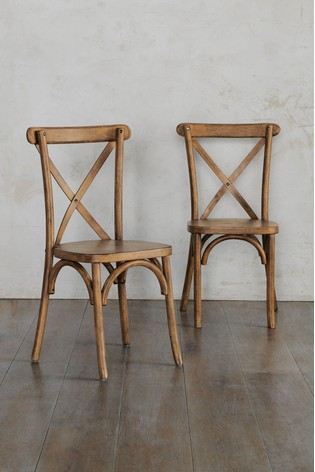 Set Of 2 Bistro Dining Chairs