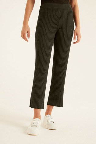 F&F Green Knitted Trousers