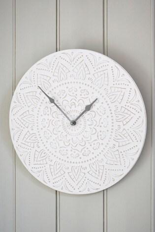 Pretty Embossed Wall Clock