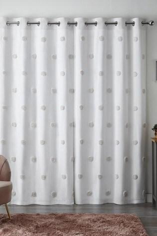 Tufted Pom Pom Eyelet Curtains