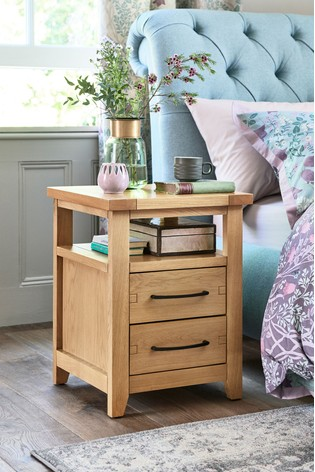 Thornley 2 Drawer Bedside Table