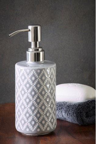 Grey Geo Soap Dispenser