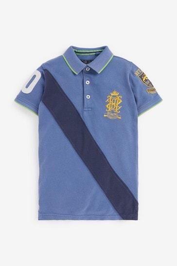 Blue/Navy Heritage Sash Polo (3-16yrs)