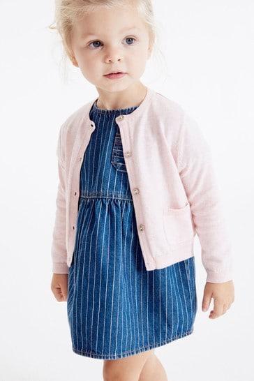 Pink Marl Cardigan (3mths-7yrs)