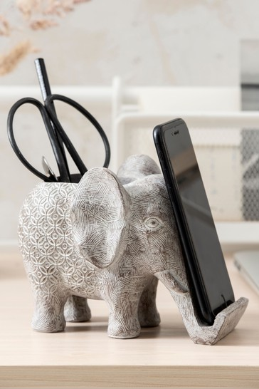Elephant Phone Holder Pen Pot