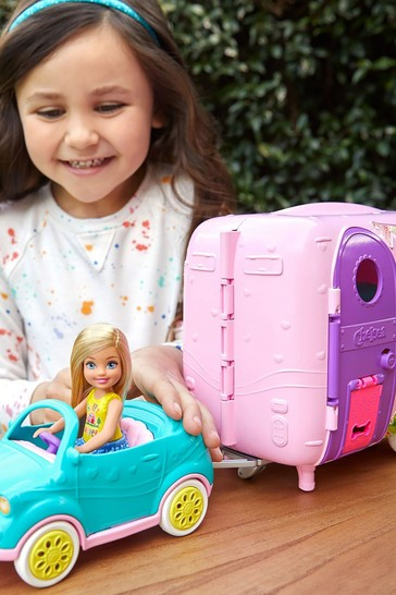 Barbie Chelsea Camper With Doll And Car Playset