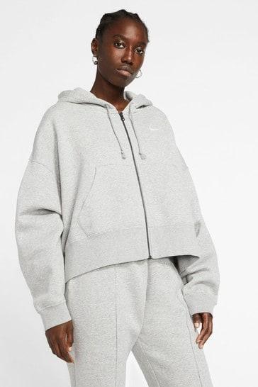 Nike Essential Fleece Oversized Zip Through Hoodie