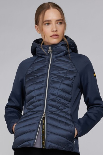 Barbour® International Hooded Padded Carnaby Hybrid Jacket