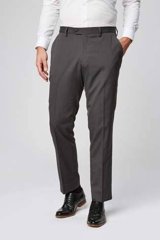 Charcoal Grey Tailored Fit Suit: Trousers