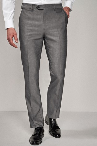 Light Grey Tailored Fit Suit: Trousers