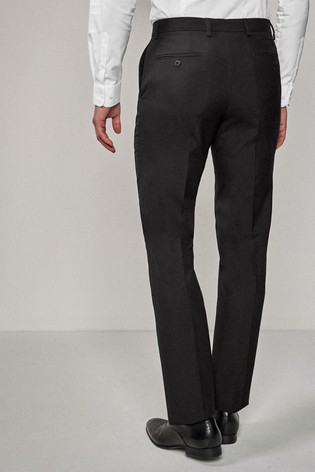 Black Tailored Fit Suit: Trousers