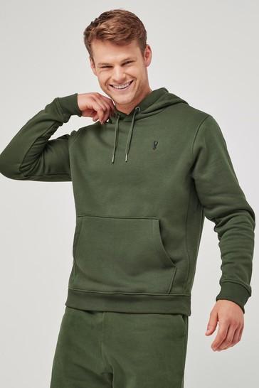 Khaki Green Overhead Hoodie Jersey