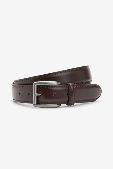 Burgundy Signature Italian Leather Belt