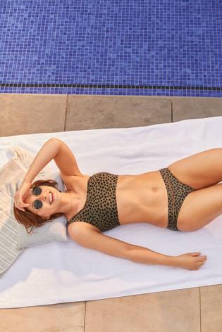 Green Animal Emma Willis High Leg Bikini Briefs