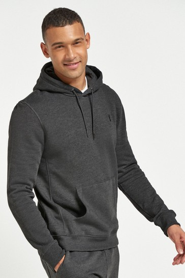 Charcoal Grey Marl Overhead Hoodie Jersey
