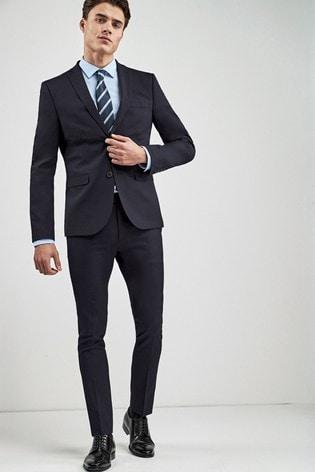 Navy Super Skinny Fit Stretch Tonic Suit: Jacket