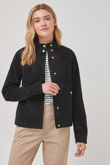 Barbour® International Cotton Casual Riene Cropped Shacket