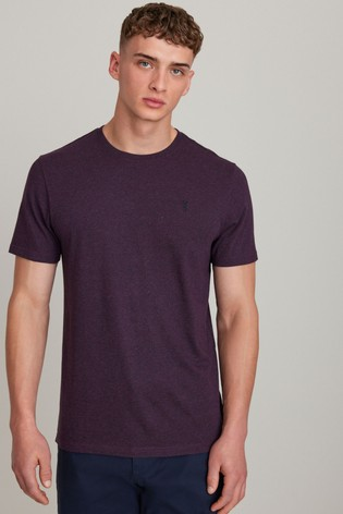 Fig Red Marl Regular Fit Stag T-Shirt