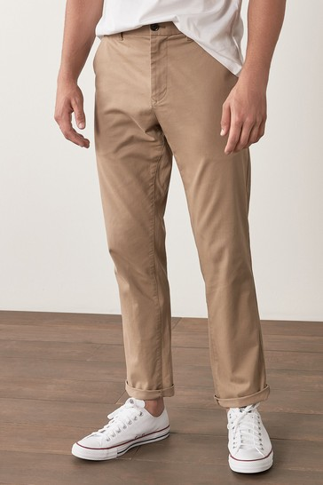 Wheat Slim Fit Stretch Chino Trousers