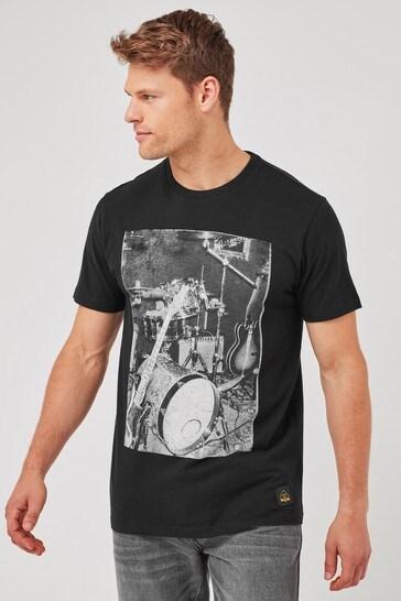 Black Band Graphic T-Shirt
