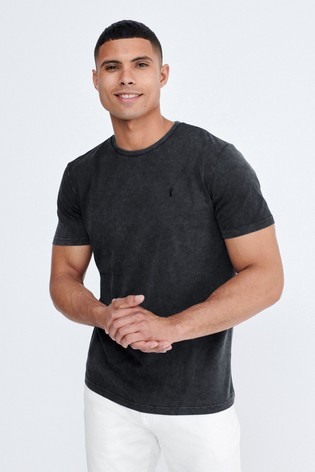 Charcoal Wash Regular Fit Stag T-Shirt