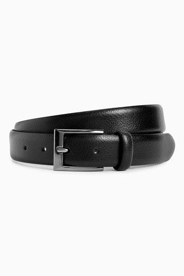 Black Leather Pebble Grain Belt