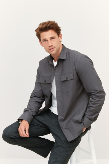 Charcoal Button Up Shacket