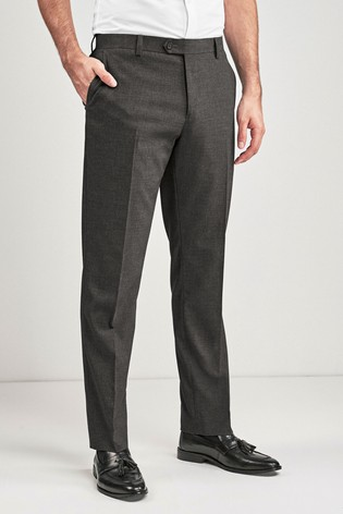 Grey Regular Fit Stretch Marl Suit: Trousers